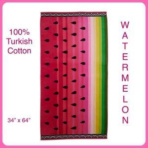 Watermelon Beach Towel Turkish Cotton NWT 34x64